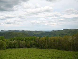 The Berkshires - A view of the Berkshires from near North Adams, Massachusetts