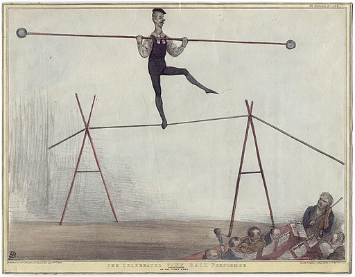 The Celebrated Vaux Hall Performer on the Tight Rope (Henry Brougham, 1st Baron Brougham and Vaux) by John Doyle