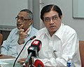 The Chairman, CBEC, Shri P.C. Jha briefing the press after addressing the passing out IRS probationers at NACEN, in Faridabad (Haryana) on September 19, 2008.jpg