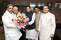 The Chief Minister of Karnataka, Shri Siddaramaiah calling on the Minister of State (Independent Charge) for Power, Coal and New and Renewable Energy, Shri Piyush Goyal, in New Delhi on December 03, 2014.jpg