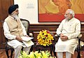 The Chief Minister of Punjab, Shri Prakash Singh Badal calls on the Prime Minister, Shri Narendra Modi, in New Delhi on May 29, 2015 (1).jpg