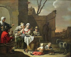 Abraham Willemsens - The Courtyard of a Country Inn