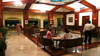 CCI Mumbai - Main entrance: lobby of the club ...