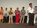 The Director, T.S. Nagabharana with the cast and crew of the film Kallarali Huvagi at the presentation of the film Vanaja on the occasion of 37th International Film Festival (IFFI-2006) in Panaji, Goa on December 1, 2006.jpg