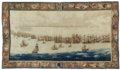 The Fleets drawn up for Battle, wandtapijt door Willem van de Velde de Oude.png