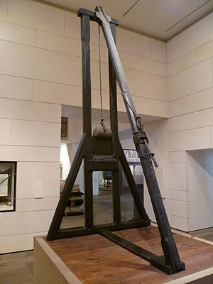 Guillotine - The original Maiden of 1564, now on display at the National Museum of Scotland in Edinburgh
