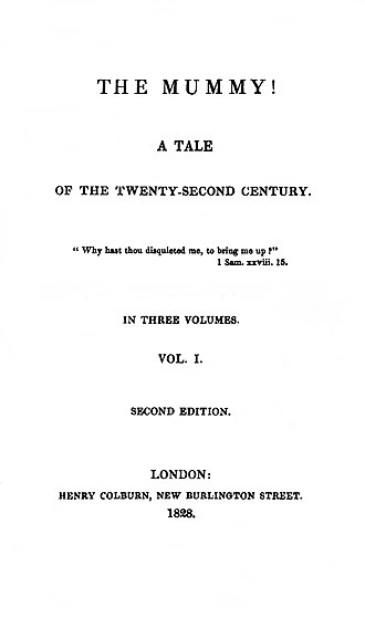 The Mummy! - Title page of the 1828 second edition