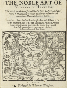 Title page of The Noble Art of Venerie or Hunting by George Gascoigne 1611 edition The Noble Art of Venerie or Hunting.png