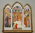 The Presentation of the Virgin, Paolo di Giovanni Fei, c. 1400, tempera on wood transferred to hardboard, view 1 - National Gallery of Art, Washington - DSC08905.JPG