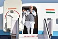 The Prime Minister, Shri Narendra Modi arrives at Dehradun to attend the oath taking ceremony of Shri Trivendra Singh Rawat, in Uttarakhand on March 18, 2017.jpg