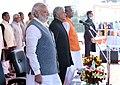 The Prime Minister, Shri Narendra Modi attends the oath taking ceremony of Shri Trivendra Singh Rawat as Uttarakhand Chief Minster, in Dehradun, Uttarakhand.jpg