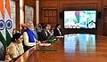 The Prime Minister, Shri Narendra Modi flagging off the new train service 'Bandhan Express' between Kolkata & Khulna, via video conferencing, in New Delhi (1).jpg