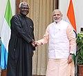 The Prime Minister, Shri Narendra Modi meeting the President of Sierra Leone, Mr. Ernest Bai Koroma, in New Delhi on October 30, 2015.jpg