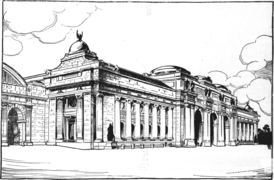 A 1902 drawing of a proposal for the design of Union Station