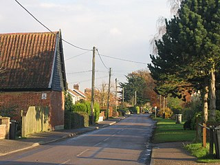 Rockland St Mary Village in Norfolk, England