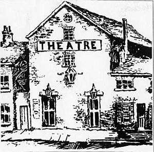 The Theatre, Leeds - The Theatre, Leeds, early 19th century