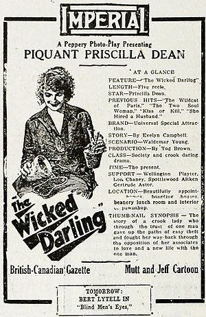 The Wicked Darling - Ad for film