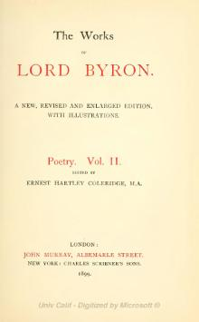 The Works of Lord Byron (ed. Coleridge, Prothero) - Volume 2.djvu
