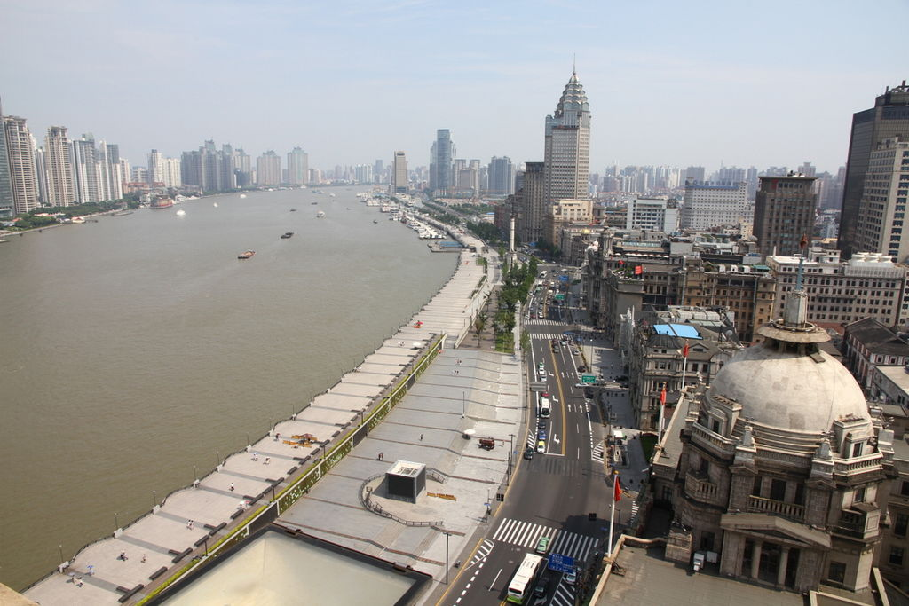 The bund, looking south as viewed from the custom house bell tower