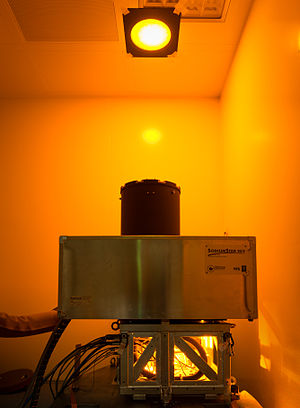 Laser guide star - Image: The first 22 watt sodium laser of the Adaptive Optics Facility