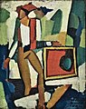 The mediathic painting Thief (c.1914) - Amadeo de Souza-Cardoso (1897-1918) (32676023611).jpg