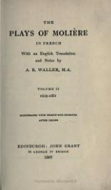 The plays of Molière - Waller - Volume 2.djvu