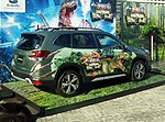 The rearview of Subaru FORESTER Advance (5AA-SKE) ver. THE MOST USEFUL SCHOOL IN THE WORLD THE LIVE.jpg