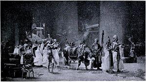 Apis (deity) - The sacred procession of Apis Osiris by F.A. Bridgman