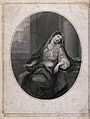 The suicide of Cleopatra; Cleopatra is sitting on a chair wh Wellcome V0041563.jpg