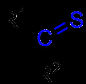 Thioketone - General formula of a thioketone