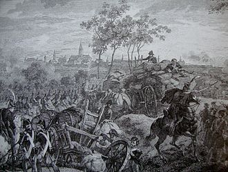 Siege of Thionville (1792) - Print of the 1792 siege of Thionville.