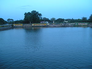 Sowmya Narayana Perumal temple - Temple tank outside the temple