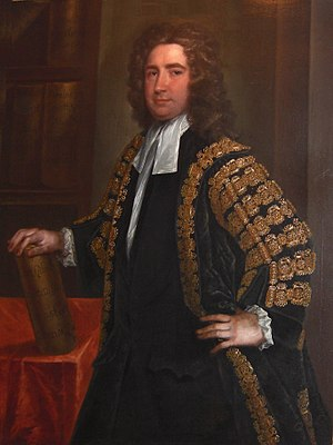 Charles Jervas - Rt. Hon. Thomas Carter, M.P., Secretary of State and Master of the Rolls, c.1727, by Jervas