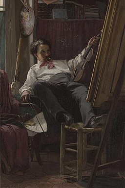 Thomas Hovenden - Self portrait of the artist in his studio
