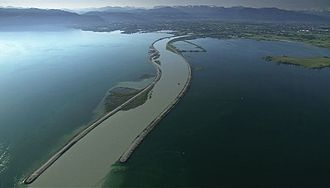 Lake Constance - The estuary of the Alpine Rhine on Lake Constance