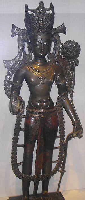 Guge - A brass alloy statue of the bodhisattva Avalokiteśvara, Guge, c. 1050 CE.