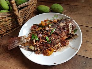 Escabeche - Escabeche of tilapia, from the Philippines
