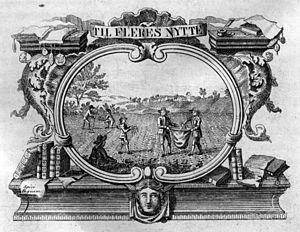Heinrich Gustav Ferdinand Holm - Holm's copperplate vignette for the Danish periodical Danske Magazin
