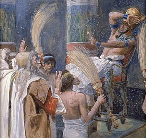 Plagues of Egypt - The Fourth Plague: The Plague of Flies by James Jacques Joseph Tissot at the Jewish Museum, New York