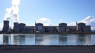 Centrale nucléaire du Tricastin(26 Drôme, Région: Auvergne-Rhône-Alpes, France).