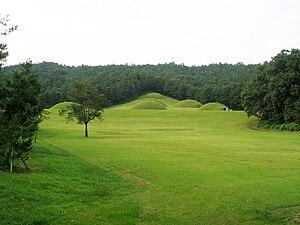 Sabi (Korea) - Image: Tombs in Neungsan ri, Buyeo, Korea