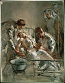 Tonks, Henry - Saline Infusion- An incident in the British Red Cross Hospital, Arc-en-Barrois, 1915 - Google Art Project.jpg