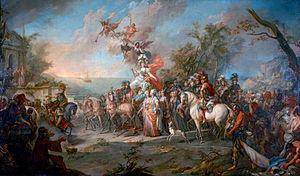 «Аллегория победы Екатерины II над турками и татарами» Стефано Торелли, 1772
