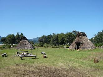 Torihama shell mound - Reconstructed pit dwellings at Torihama