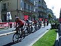 Tour de France - Etape 4 - Montpellier - Entrainement équipe Saxo Bank by Mikani.JPG