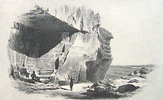 Tora, Egypt - A depiction of a limestone quarry in Tora.