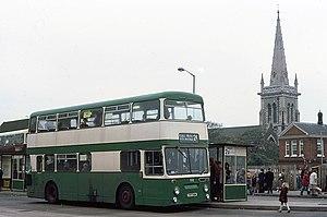 Ipswich Buses - Roe bodied Leyland Atlantean in November 1982
