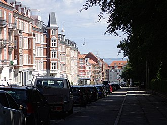 Trøjborg - Trøjborg. The street of Trøjborgvej marks the southern limits of this neighbourhood.