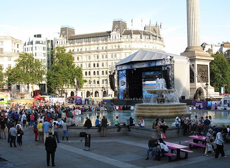 Trafalgar Square, Paralympics big screen.JPG