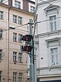 Tram signals for the railroad switch in Prague.JPG